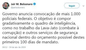 twitter-concurso-policia-federal-bolsonaro