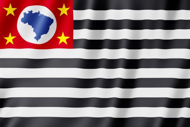 Imagem com a bandeira do Estado de SP.